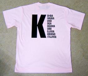 バックプリントのオリジナルプリントTシャツ